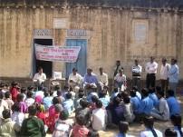 子ども村議会選挙の様子(チタウリ村)