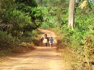 ガーナの北部から人身売買で連れてこられた子どもたち
