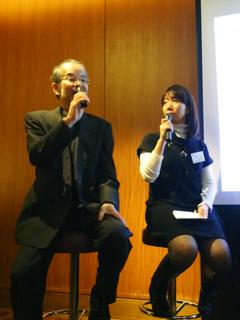 スペシャルゲストの竹井善昭さんによるトークショーの様子