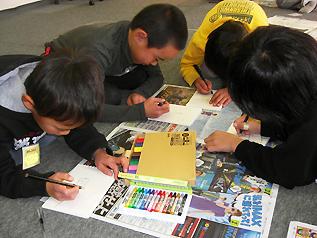 子どもたちに「大切なモノ」、「山元町の好きなところ」などを描いてもらいました