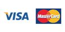 VISA,MASTERのカードが使用できます