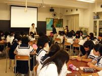 全校集会や総合的な学習の時間に講師を派遣
