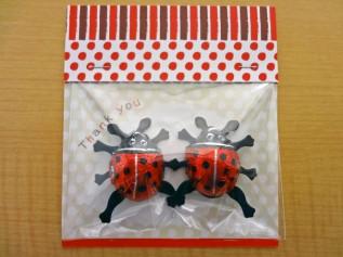 「しあわせを運ぶ てんとう虫チョコ」2014 2個入りパック