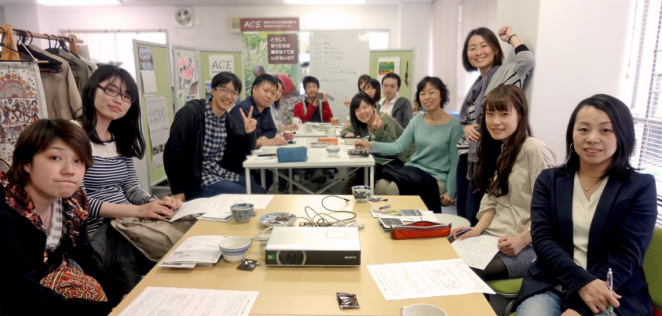 2014年4月に開催した映画上映&ボランティア作業デーの様子