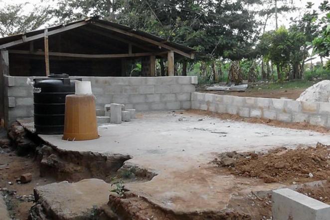 ンスオテムの中学校建設予定地