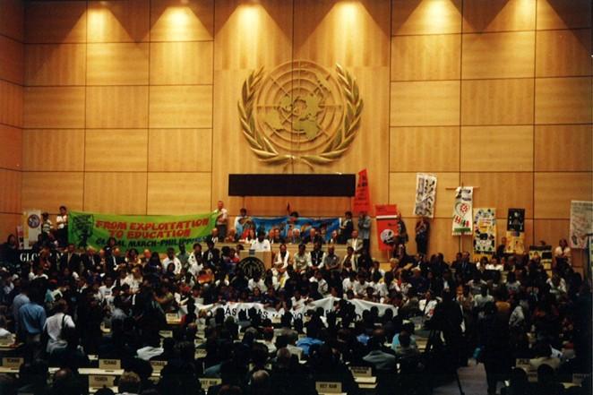 1998年、児童労働に反対するグローバルマーチはNGOとして初めて国際労働機関(ILO)の中に迎えられた