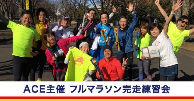 ACE主催フルマラソン完走練習会