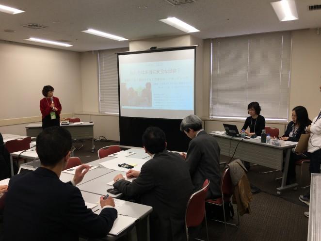 ACE成田による「セーフガーディングに関わる事例」のグループワークの様子