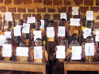 ガーナの子どもたちが描いてくれた絵