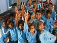 カイラシュ・サティヤルティ氏が代表を務めるBBAと協働実施する「子どもにやさしい村」プロジェクトの支援地域の子どもたち