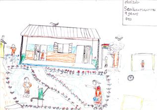 子どもに描いてもらった「夢の学校」