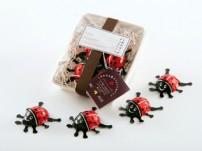 「しあわせを運ぶ てんとう虫チョコ 2011」4個入りパック