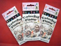 5色の炎で光るカラフルキャンドル