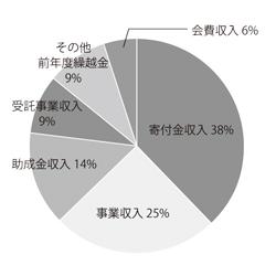 2009年度収入内訳円グラフ
