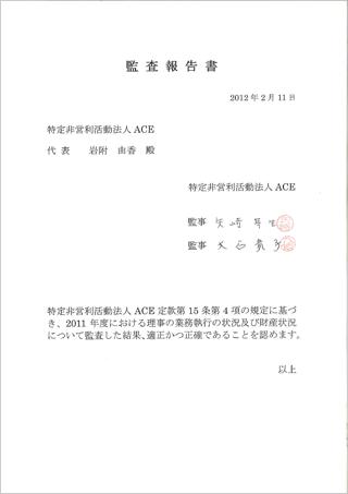 2010年度監査報告書