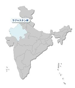 インド・ラジャスターン州の地図