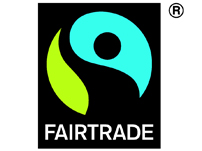 国際フェアトレードラベル機構(FLO)が定めた国際フェアトレード基準が守られている事を証明するラベル