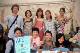 ACE Cafe スタッフの集合写真(一日目)