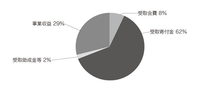 ACE 2013年度(前期)収入内訳
