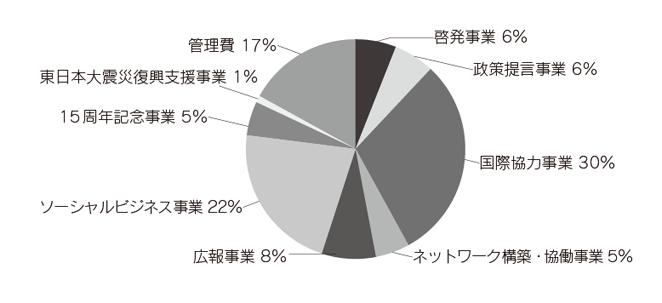 ACE 2013年度(前期)支出内訳