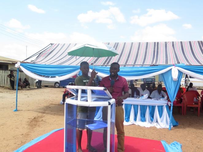 郡政府代表のスピーチ