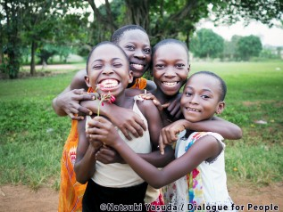 ガーナの子どもの笑顔