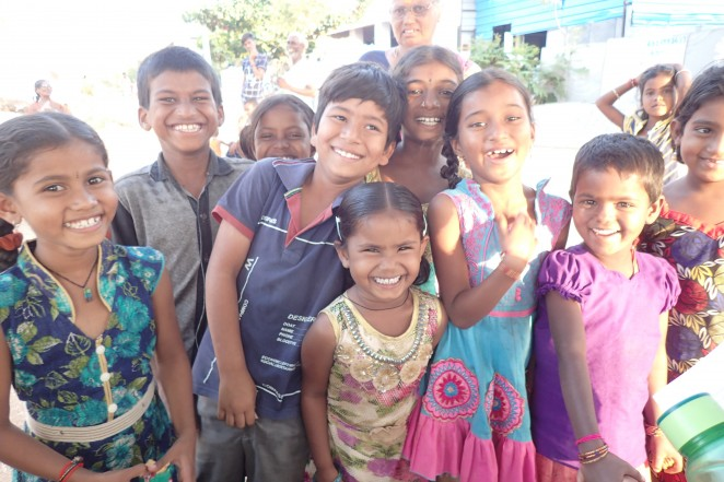 村の子どもたち