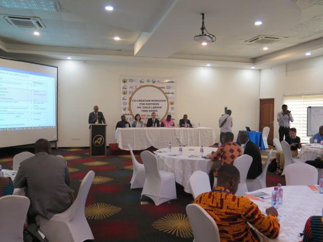 アクラで行われたJICAとガーナ雇用労働関係省による共創ワークショップ