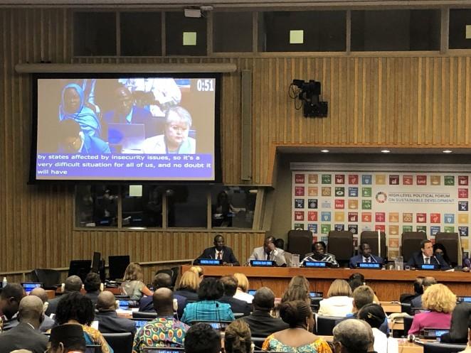 国連ハイレベル政治フォーラムに参加しました