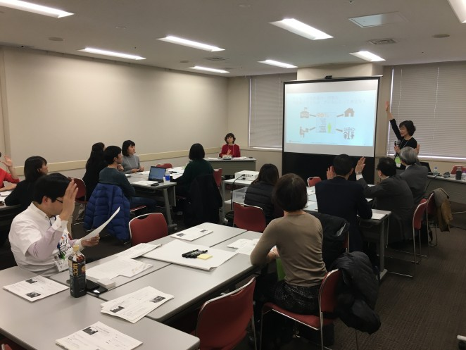 Child Fund Japan細井ななさんによる「子どものセーフガーディング」についての説明の様子